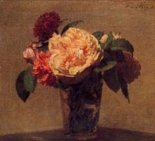 Анри Фантен-Латур. Цветы в вазе