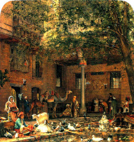 Джон Фредерик Льюис. Двор дома патриарха коптов в Каире