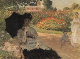 Клод Моне. Камилла Моне в саду