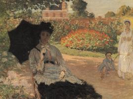 Claude Monet. Camille Monet in the garden