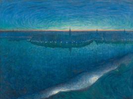 Eugene Janson. Sunrise over the Bay Riddarfjarden