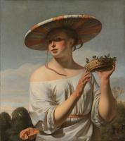 Цезарь ван Эвердинген. Девушка в широкополой шляпке