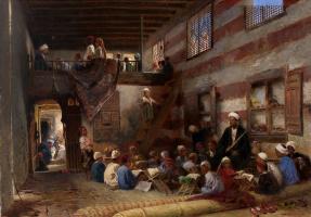 Konstantin Makovsky. School in Cairo