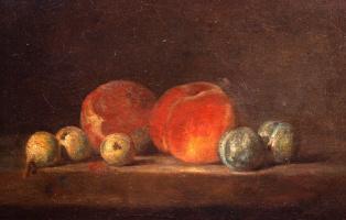 Жан Батист Симеон Шарден. Натюрморт с персиками и сливами