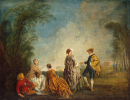 Antoine Watteau. Difficult offer