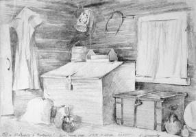 Alexander Victorovich Shevelyov. Storage room in Bugrovo.Boom.Graph.CT. 29.5 x 42 cm 1987