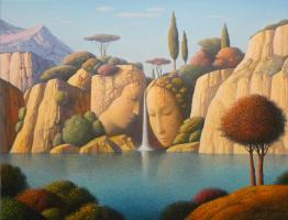 Evgeni (Евгений) Яковлевич Gordiets (Гордиец). Waterfall