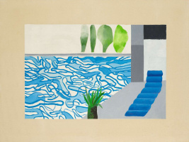 David hockney. Picture of a Hollywood Swimming Pool