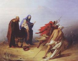 Александр Егорович Бейдерман. Бегство Святого Семейства в Египет
