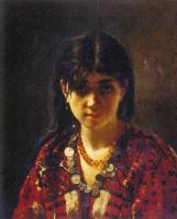 Алексей Алексеевич Харламов. Мордовская девушка. 1872
