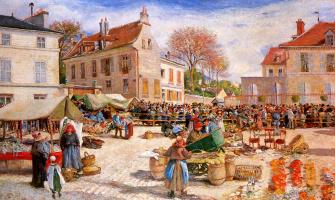 Людовик Пиетт. Рынок в Понтуаз