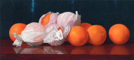 Уильям Джозеф МакКлоски. Апельсины в оберточной бумаге на столе