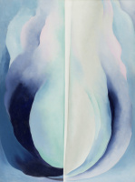 Georgia O'Keeffe. Blue abstraction