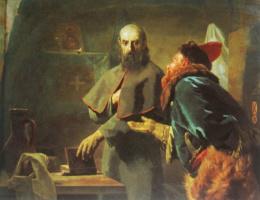 Николай Васильевич Неврев. Последние минуты митрополита Филиппа. 1898  70х88