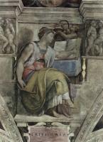 Микеланджело Буонарроти. Эритрийская сивилла. Фрески Сикстинской капеллы