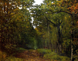 Alfred Sisley. The dense forest