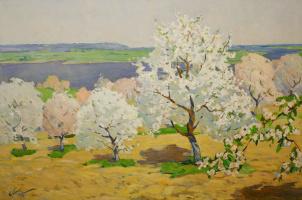 Peter Ivanovich Babak. Blooming garden