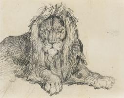 Теодор Жерико. Эскиз льва