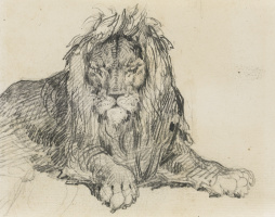 Théodore Géricault. Sketch of a lion