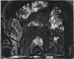 Джованни Баттиста Пиранези. Руины зала скульптур на вилле Адриана