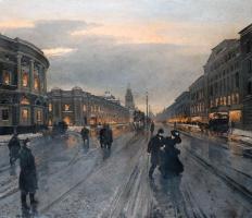 Alexander Karlovich Beggrov. View of the Nevsky prospect. 1882