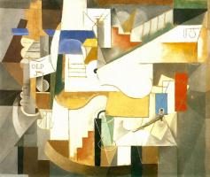 Пабло Пикассо. Бутылка, гитара и трубка