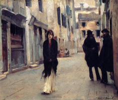 John Singer Sargent. A street in Venice