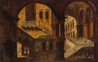Микеле Мариески. Лестница во дворце