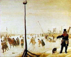 Хендрик Аверкамп. Зимний пейзаж с виселицей