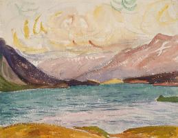 Giovanni Giacometti. The mountains of lake Sils