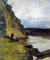 Vasily Ivanovich Surikov. Landscape with figure brother