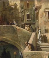 Вильгельм Александрович Котарбинский. Посадка в гондолу венецианской знати. Фрагмент 1