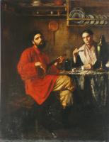 Nikolai Vasilyevich Nevrev. Home peasant scene. 1855
