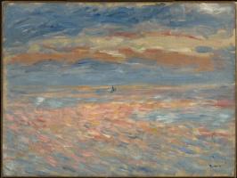 Pierre-Auguste Renoir. Sea sunset