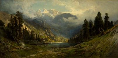 William Keith. California pines