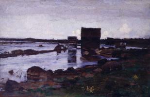 Кириак Константинович Костанди. Мельница. Северный пейзаж. 1884-1885
