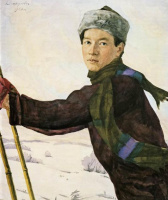 Анна Петровна Остроумова-Лебедева. Лыжник (В.В. Внрховский)