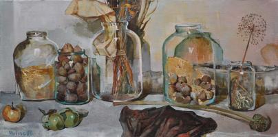 Polina Kuznetsova. Glass still life