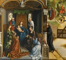 Бернард ван Орлей. Мадонна с младенцем в окружении святых
