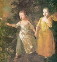 Томас Гейнсборо. Дочери художника с бабочкой