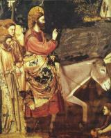 Джотто ди Бондоне. Сцены из жизни Христа. 10. Вход Господень в Иерусалим