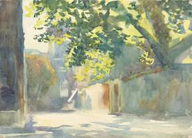 Джон Сингер Сарджент. Солнечный свет на стене под деревом