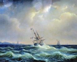 Alexey Petrovich Bogolyubov. Море в непогоду