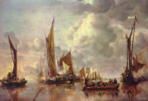 Ян ван де Капелле. Морской парад
