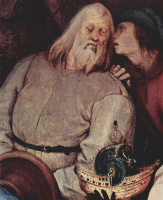 Питер Брейгель Старший. Поклонение волхвов. Деталь
