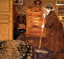 Jean Edouard Vuillard. Woman Sweeping