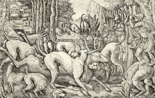 Жан Дюве. Охота на оленя