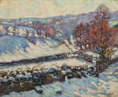 Arman Hyomin. Snowy landscape at Crozant