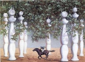 Rene Magritte. The lost jockey