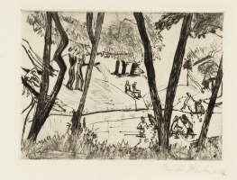 Erich Heckel. Bathers on the river Alster